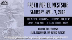 Paseo por El Westside - Saturday, April 7, 2018