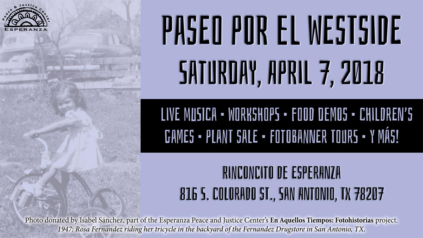 Paseo por El Westside - Saturday, April 7, 2018
